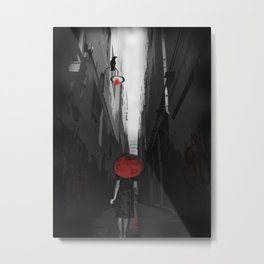 Red N Lost.... Metal Print