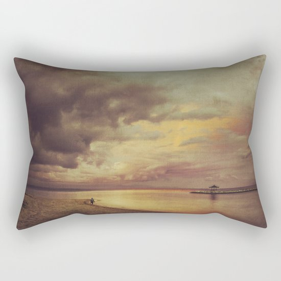 Walk Alone Rectangular Pillow