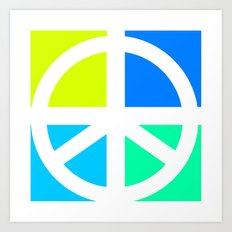 Peace Symbol Abstract Art Print