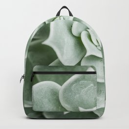 Succulent lover close up view Backpack