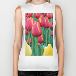 Tulips Red and Yellow Biker Tank