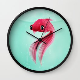Little Fish Coy Koi Wall Clock