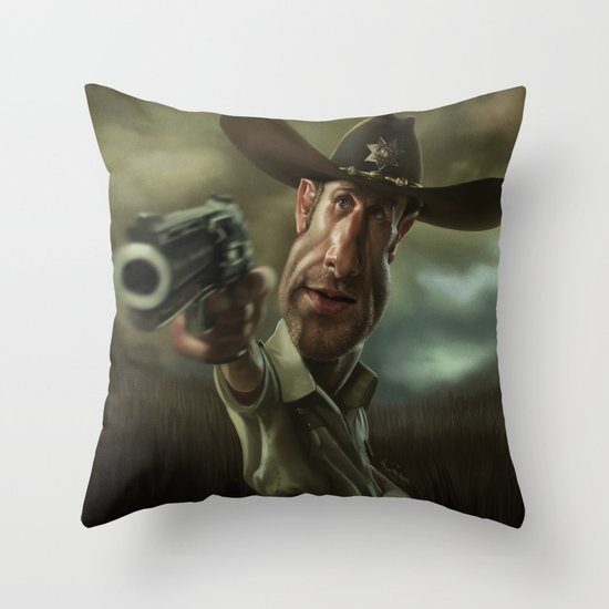 Rick Grimes from 'The Walking Dead'. Throw Pillow