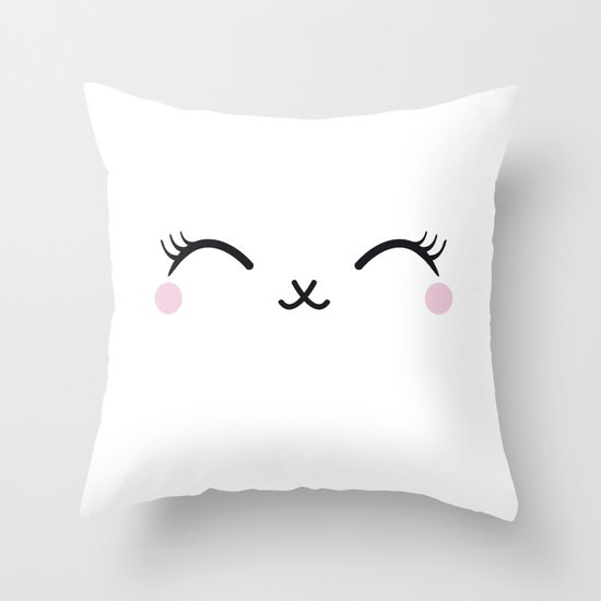 Cute eyes Throw Pillow