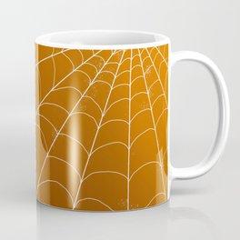 Spiderweb on Pumpkin Coffee Mug