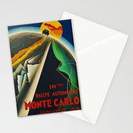 1931 Vintage 10 eme Rallye Automobile Monte Carlo, Janvier Grand Prix Poster Stationery Cards