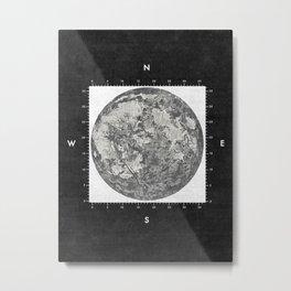 Moon Scale [Sans Black] Metal Print