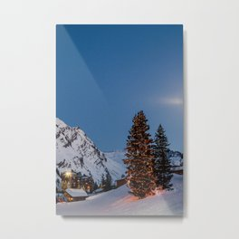 xmas ins the alps Metal Print
