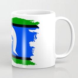 Torres Strait Islander Flag Border Grunge Coffee Mug