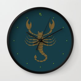 Scorpio Zodiac / Scorpion Star Sign Poster Wall Clock