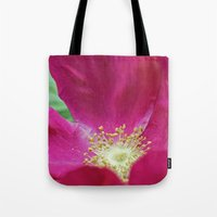 hot pink Tote Bags featuring Hot Pink by Astrid Ewing