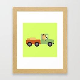 Horse on Truck Framed Art Print