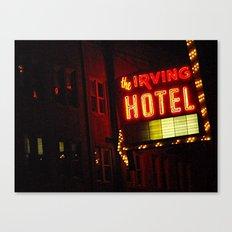 The Irving Park Hotel ~ Chicago Noir ~ Vintage Neon Sign Canvas Print