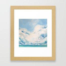 white blur Framed Art Print