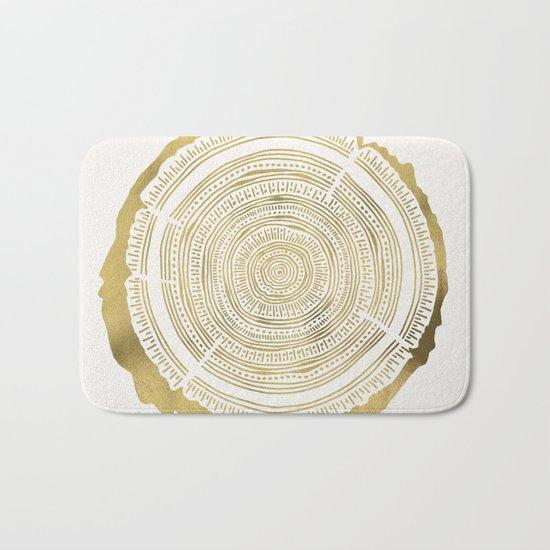 Douglas Fir – Gold Tree Rings Bath Mat