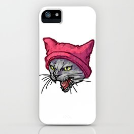 The Cat in the Hat (Russian Blue) iPhone Case