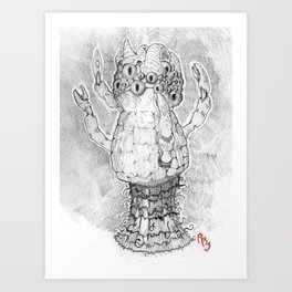Lovecraftian Polyp Art Print