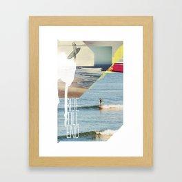 Ride Till End Framed Art Print