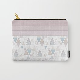 Geometric pattern , pastel triangles Carry-All Pouch