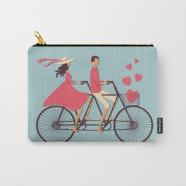 Love Couple riding on the bike Carry-All Pouch