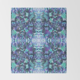 Abstract Floral Burst Throw Blanket