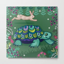 The Tortoise and the Hare Metal Print