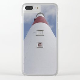 Looking up at Portland Bill Clear iPhone Case