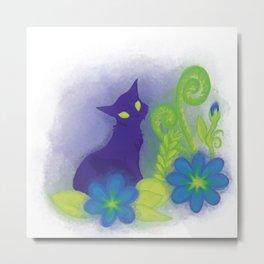 flower felinity Metal Print