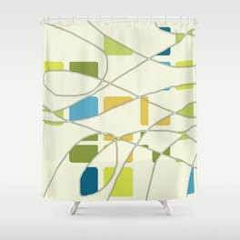 Flying Circles Shower Curtain