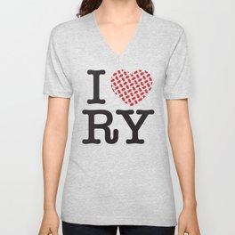 I heart RY(Riyadh) Unisex V-Neck