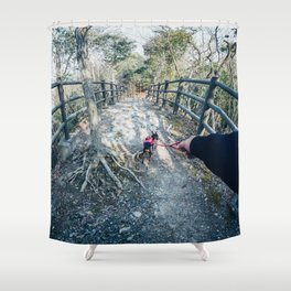 Follow me to - Holiday Adventure in Forest / Dreamer's Vision Shower Curtain