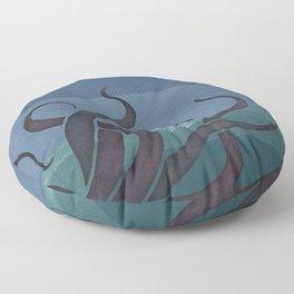 Jules Verne's Twenty Thousand Leagues Under the Sea - Minimalist literary design, literary gift Floor Pillow