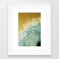 Ocean Blue Dandy Sparkles Framed Art Print