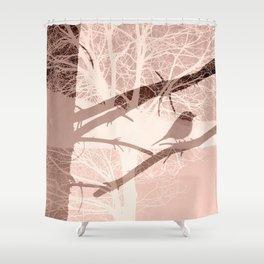 Bird tree Shower Curtain