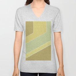 olive ,mustard , abstract Unisex V-Neck