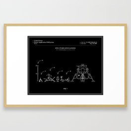 Space Lander Patent - Black Framed Art Print