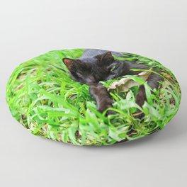 Green Eyes Floor Pillow