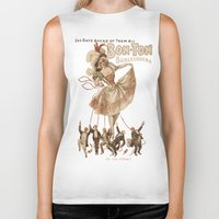 burlesque Biker Tanks featuring Bon-Ton Burlesque by taiche