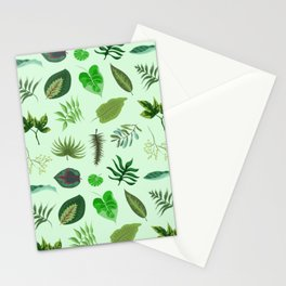 Tropical leaves pattern Stationery Cards