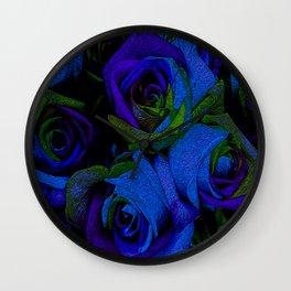 Funky Roses V Wall Clock