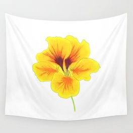Indian cress flower - illustration Wall Tapestry