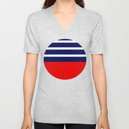 Summer Patio Perfect, Red, White & Navy Unisex V-Neck