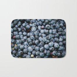 BLUEBERRIES - BUNCH - FRUIT - PHOTOGRAPHY Bath Mat