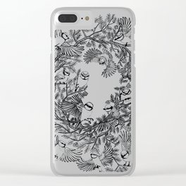 Birds tree botanical pattern Clear iPhone Case