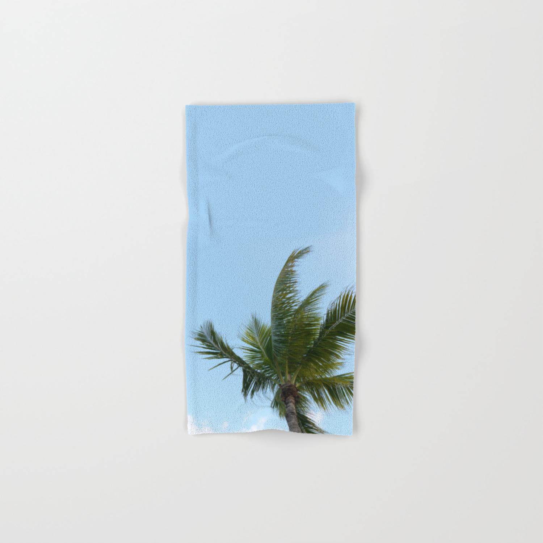 Keywest Palm Tree Hand Bath Towel