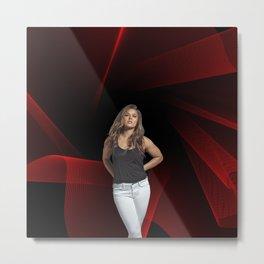 Ronda Rousey - Celebrity (Oil Paint Art) Metal Print