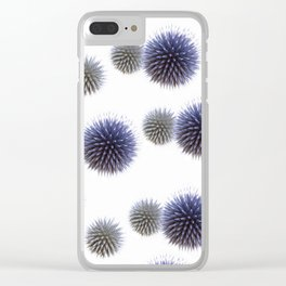 Echinops - Globe Thistles Pattern #1 #floral #decor #art #society6 Clear iPhone Case