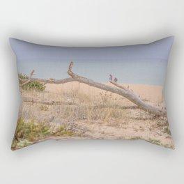 Old branch beach Rectangular Pillow