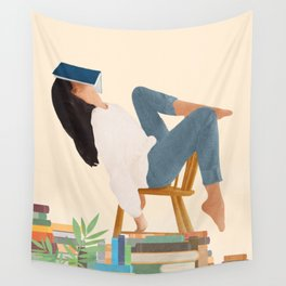 Lost in my books Wall Tapestry