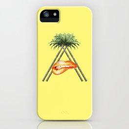 Tropical A iPhone Case